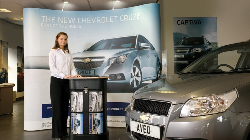 Automotive Pop Up Displays
