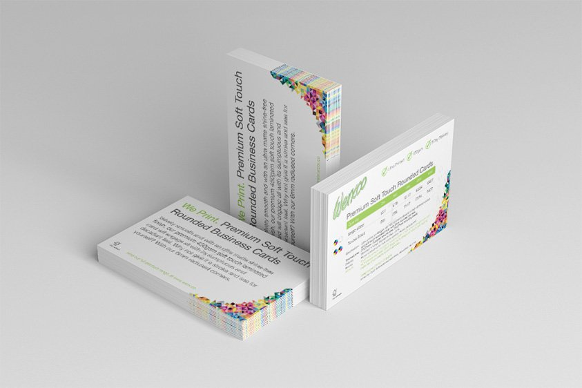 Premium soft touch rounded business cards reheart Images
