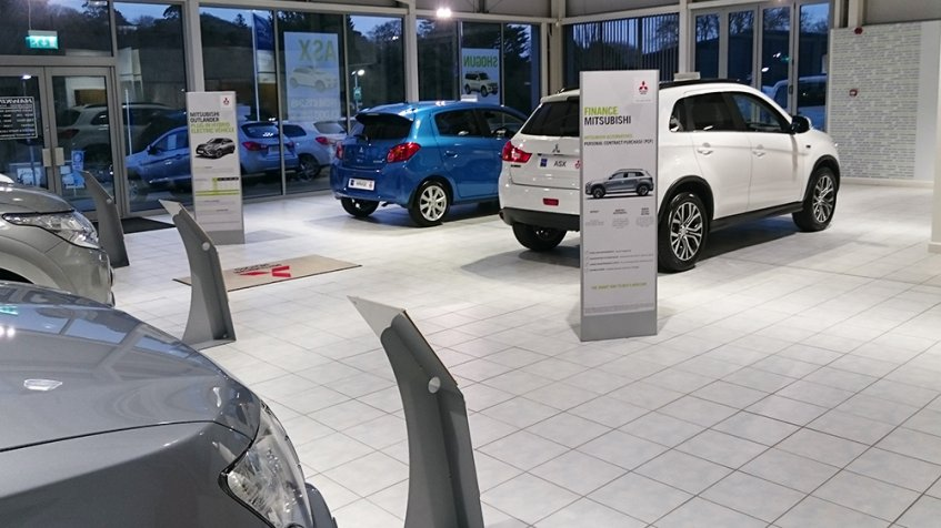 Automotive Showroom POS Stands